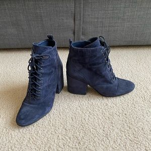 Sam Edelman Navy blue Tate lace up boots in 8